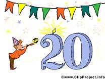 20 ans anniversaire image gratuite
