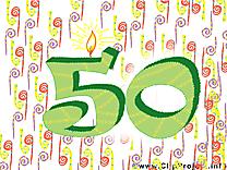 50 ans dessin – Anniversaire à télécharger