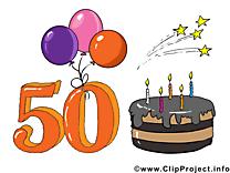 50 ans dessin gratuit – Anniversaire image