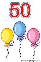 50 ans images – Anniversaire clip art gratuit
