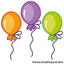Ballons dessins gratuits – Anniversaire clipart