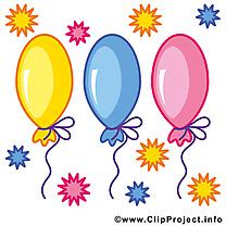 Ballons image à télécharger – Anniversaire clipart