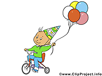 Bicyclette illustration – Anniversaire clipart