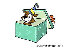 Boîte surprise dessin gratuit – Anniversaire image
