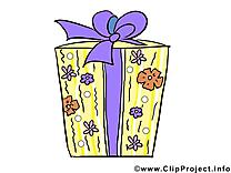 Cadeau dessin – Anniversaire clip arts gratuits