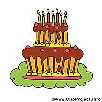 Clip art gâteau – Anniversaire image gratuite