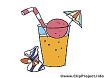 Coctail anniversaire illustration gratuite