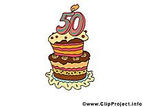 Gâteau 50 ans dessin gratuit – Anniversaire image