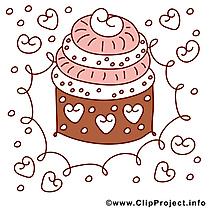 Gâteau clip arts gratuits – Anniversaire illustrations