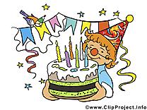Gâteau image gratuite – Anniversaire cliparts
