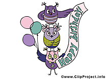 Hiboux illustration – Anniversaire images