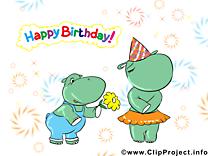 Hippopotames clipart gratuit – Anniversaire images