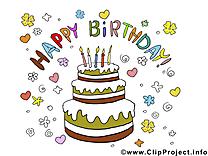 Images gratuites gâteau – Anniversaire clipart