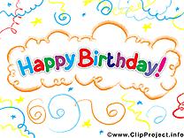 Joyeux anniversaire dessin clip arts gratuits
