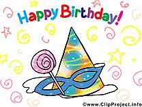 Joyeux anniversaire image à télécharger clipart