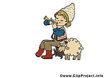 Mouton mages gratuites – Anniversaire clipart