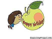 Pomme images gratuites – Anniversaire clipart