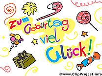 Sucrerie image gratuite – Anniversaire illustration allemand