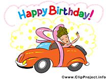 Voiture anniversaire image gratuite