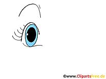 Bleu oeil clipart gratuit – Dessin images
