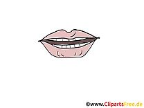 Bouche clip arts gratuits – Dessin illustrations