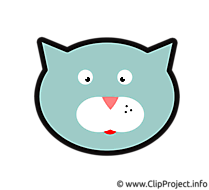 Chat clip arts gratuits – Dessin illustrations