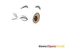 Clin d'oeil images – Dessin clip art gratuit