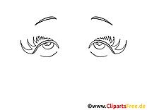 Coloriage dessin image yeux gratuite