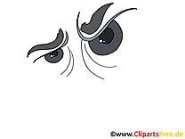 Cruel regard dessins gratuits – Dessin clipart