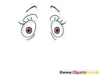Étonné regard image gratuite – Dessin clipart