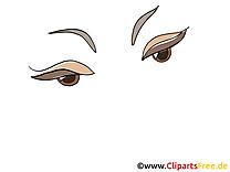 Femme yeux image à télécharger – Dessin clipart