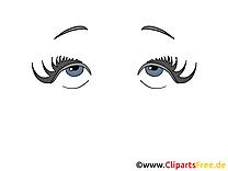 Femme yeux images – Dessin dessins gratuits