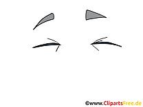 Fermés yeux clipart gratuit – Dessin images