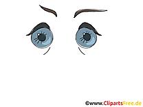 Grands yeux clip art gratuit – Dessin images