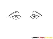 Image à imprimer yeux – Dessin clipart