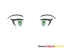 Image gratuite yeux – Dessin clip arts gratuits