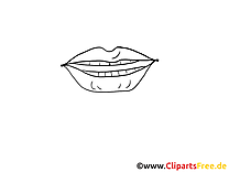 Lèvres dessins à colorier – Dessin clipart