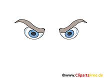 Méchant regard image gratuite – Dessin cliparts