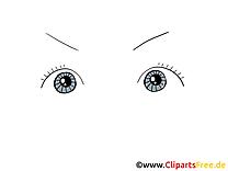 Ouverts yeux image gratuite – Dessin cliparts