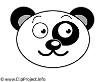Panda illustration gratuite – Dessin clipart