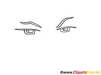 Regard dessin à imprimer – Dessin clip arts gratuits