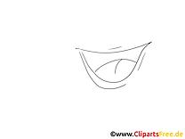 Rire images à colorier – Dessin clip art gratuit