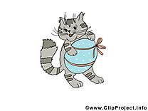 Chat cliparts gratuis - Pâques images