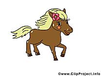 Clipart Cheval Gratuit maron poney illustration gratuite – cheval clipart - chevaux dessin
