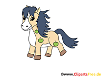 Petit poney image gratuite – Cheval cliparts