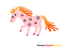 Rose poney images – Cheval dessins gratuits
