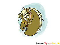 Tête clip arts gratuits – Cheval illustrations