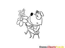 Abeille chien images gratuites – Animal à colorier