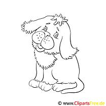 Chien dessin – Animal gratuits à imprimer