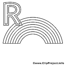 Regenbogen illustration – Alphabet allemand à colorier